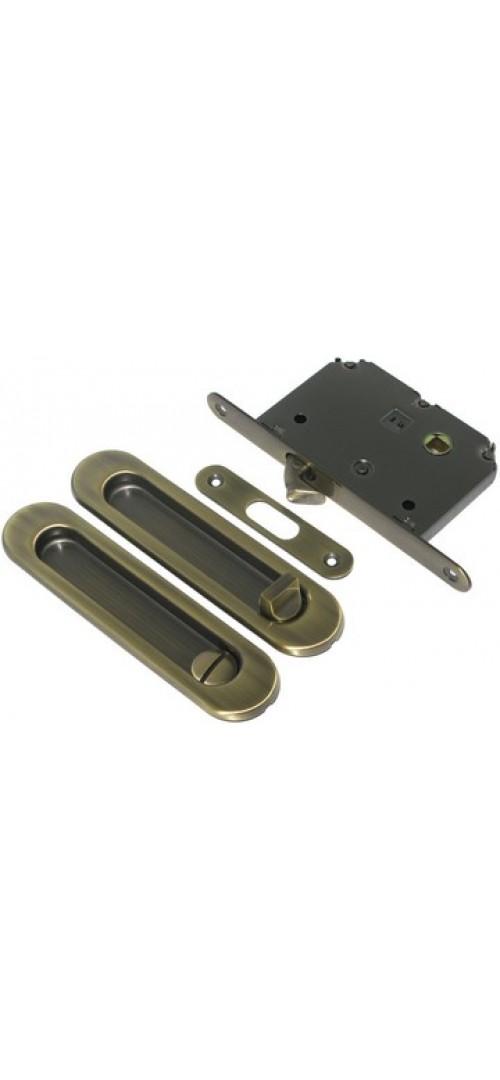 Ручка для раздвижных дверей с фиксатором Матовое золото