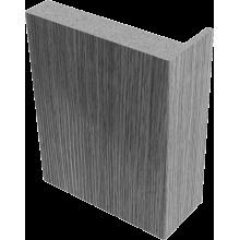 Наличники облицованные экошпоном телескоп Беленый дуб - комплект 5 шт. (для одной двери)