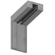 Коробки МДФ для складной двери  Миланский орех - комплект 3 шт. (для двух распашных дверей)