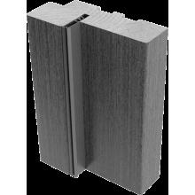 Коробки массив сосны с упл. Американский орех - комплект 3 шт. (для двух распашных дверей)