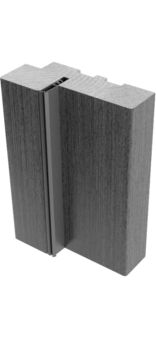 Коробки массив сосны с упл. Шоколад - комплект 3 шт. (для двух распашных дверей)