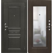 Дверь мет. SD Prof-10 Троя-Зеркало Темный орех