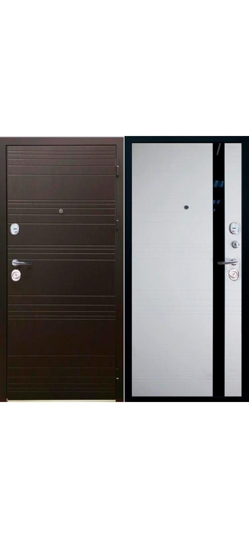 Дверь мет. SD Prof-36 Фортуна Бел. дуб / гор. шоколад