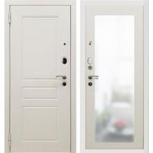 Дверь мет. SD Prof-10 Троя белая большое зеркало Белый