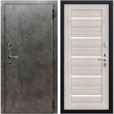 Дверь мет. SD Prof-10 Вектор Бетон темный/Листв. белая