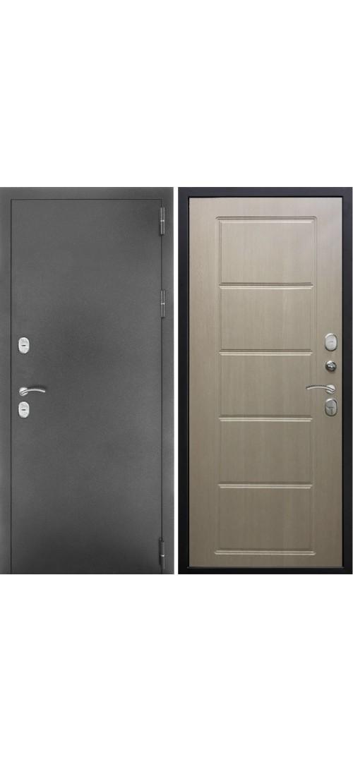 Дверь мет. SD Prof-ТЕРМО Темное серебро/капучино