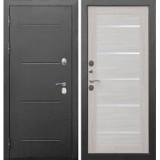 Дверь мет. Изотерма серебро Серебро/листв.бежевая