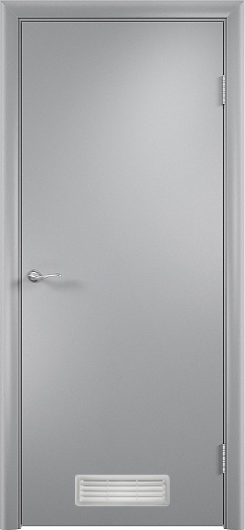 в комплекте ДПГ с вентиляционной решеткой-1 Серый