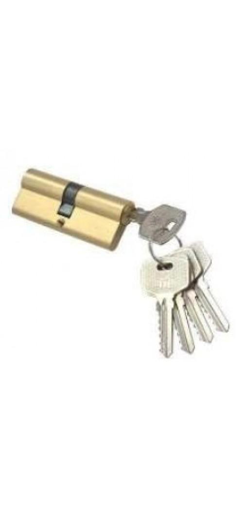 Цилиндр N-60 Domax  (ключ-ключ) Матовое золото